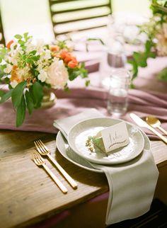 elegant sophisticate, photo by Faith Teasley http://ruffledblog.com/bloomsbury-farm-wedding-inspiration #tablescape #weddingideas #placesetting