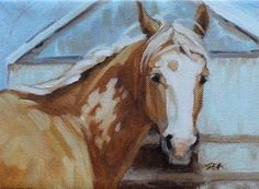 "Daily Paintworks - ""Palomino Paint"" - Original Fine Art for Sale - © Susan Ashmore"