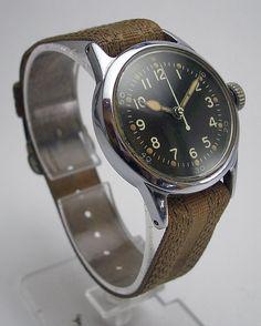 RARE WWII Military Hamilton 2987 18J USMC Navy Aviators Hack Watch