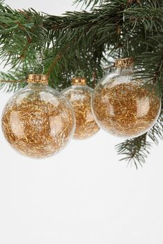 Tinsel Ball Ornament - Set Of 4