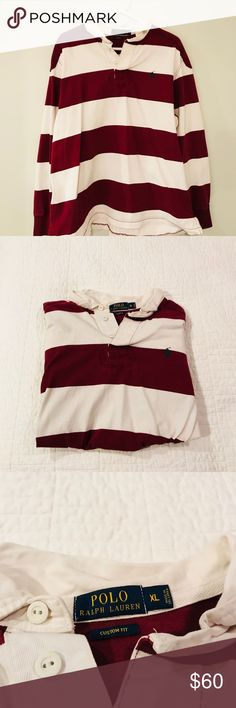 Rugby shirt In great condition, has only been worn a few times. Purchased from Ralph Lauren- authentic. Polo by Ralph Lauren Shirts Polos
