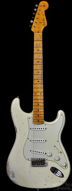 Fender 1956 Stratocaster AA Flame Heavy Relic Faded Vintage White - Wild West Guitars