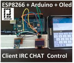 ESP8266 + Arduino + Oled ( Client IRC Chat Control) Part 1