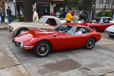 Toyota 2000 GT waiting to enter the Carmel Concours