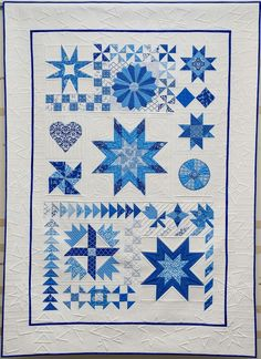 Modern Sampler quilt by Kimberly Einmo, featured at Auribuzz