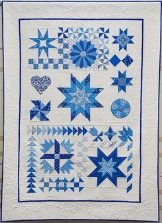 Modern Sampler quilt by Kimberly Einmo, featured at Auribuzz
