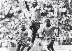 Pele, Jairzinho & Tostao. World Cup 1958