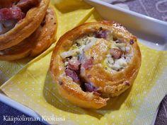 Kääpiölinnan köökissä: Helpot aurajuusto-pekonihyrrät