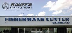 Thank you Fishermans Center! It was a pleasure. #KauffsSigns #Commercial #Business #Kauffs #Lettering #StandOut