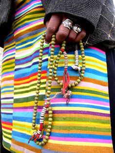 Tibet Prayer Beads / Lovingly pinned by The Rainbow Farmer https://www.etsy.com/shop/TheRainbowFarmer