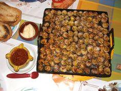La cocina con caracoles. Propio casi exclusivamente de la cocina española y francesa, el caracol es un manjar exquisito