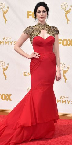Laura Prepon - Emmys 2015 Red Carpet Arrivals - in Christian Siriano - from InStyle.com
