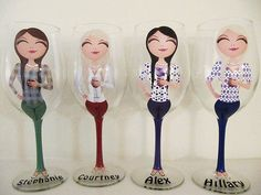 Create a Character Wine Glasses by JennyDsCustomDecor on Etsy  Best Present for Girlfriends!