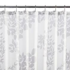 Kukkula Grey Shower Curtain
