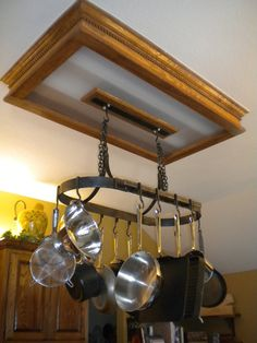 Hanging Iron Pot Rack With 10 Hooks  Hand by ArtisansoftheAnvil, $320.00