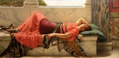 1919 A Cool Retreat ~ John William Godward ~ (British, 1861–1922)