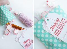 Printable Holiday Bags & Tags | Oh Happy Day!