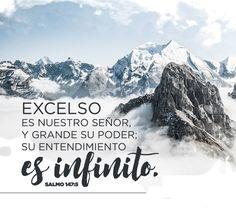 << Excelso es nuestro Señor, y grande su Poder; su entendimiento es infinito >>. Salmos 147:5