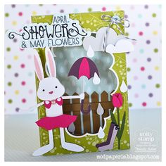 This is the most adorable card and cutest bunny!  Thienly used EVERYDAY CARDS SVG KIT and APRIL AVENUE SVG COLLECTION.
