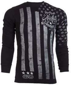Archaic AFFLICTION Mens THERMAL T-Shirt NATION American Customs Biker M-3XL $58