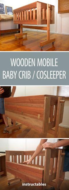 Make a portable baby crib! #bassinet #crib #cosleeping