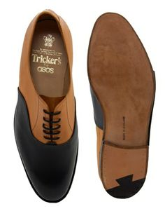 Trickers Naval Oxford Shoes. Those colors! @Irvin Sandoval