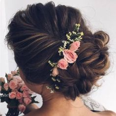 Pink Flower Hair Accessories