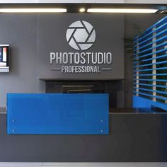 Brushed Aluminum Metal, PHOTO STUDIO, sign for wall decor, Custom Business Sign, Reception Desk logo and letters, for Business Signage Office Reception Design, Office Signage, Waiting Room Design, Custom Business Signs, Industrial Office Design, Wall Logo, Signage Design, Office Wall Decor, Aluminum Metal
