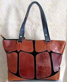 Large handcrafted leather purse Leather Purses, Tote Bag, Stuff To Buy, Bags, Fashion, Handbags, Moda, Leather Handbags, Fashion Styles