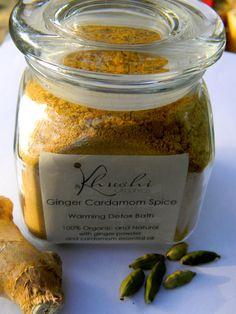 Ginger Cardamom Spice -Organic Warming Detox Bath