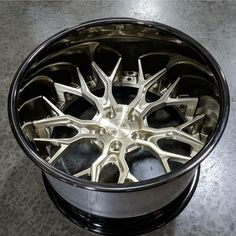 in Brushed Champagne with Polished Smoke Mirror Lip and Harware! Custom Wheels And Tires, Car Wheels, Rims For Cars, Rims And Tires, Custom Chevy Trucks, Custom Cars, Racing Rims, Car Parts And Accessories, Forged Wheels