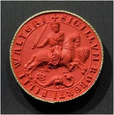Seal of Robert FitzWalter (d. 1235) © Trustees of the British ...