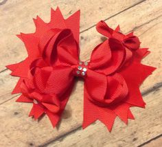 Valentine TBB boutique bow  red baby toddler by BBgiftsandmore