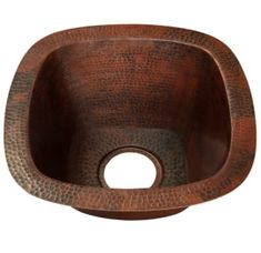 """View the Miseno MC-NA300 Square 15"""" Copper Drop-In or Undermount Bar Sink at Build.com."""