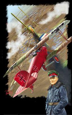 Manfred von Richtofen ai comandi di un Albatros DIII