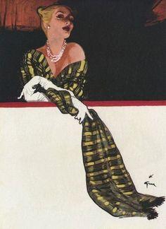 Fashion illustration by René Gruau