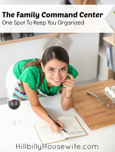 The Family Command Center – One Spot To Keep You Organized | Hillbilly Housewife