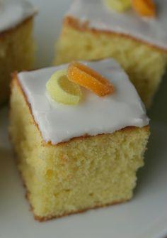 Marias Salt og Søtt: Sitronkake i langpanne(Lemon traybake)