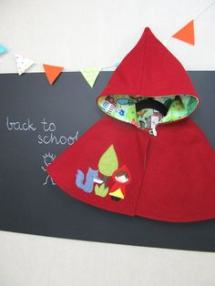 Pixie Capelet  Red Riding Hood. Children Cape by ViolaStudio, $109.00