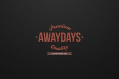 Away Days Branding Identity by Gumpita Rahayu, via Behance