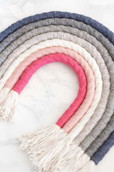 Rope Rainbow Wall Hanging DIY with fringe