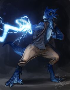 "[Art] Azzulhar (Azzy for short) - the Kobold Sorceror; commission by ""That Art Jack"" : DnD"