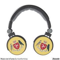 Manx coat of arms headphones