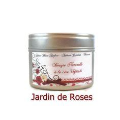 Bougie Parfumée Jardin de roses Cire Végétale Bougie Naturelle : Luminaires par fondants-de-cire-parfumes-fleur-artifice