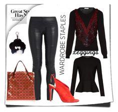 """wardrobe basic-leggings"" by peeweevaaz ❤ liked on Polyvore featuring Altuzarra, Aquazzura, Fendi, Leggings and WardrobeStaples"