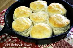 Mommy's Kitchen - Old Fashioned & Country Style Cooking: Skillet Buttermilk Biscuits & {How to Season & Care for Cast Iron Cookware}