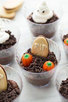 Gluten-Free Vegan Halloween Graveyard Dirt Cups