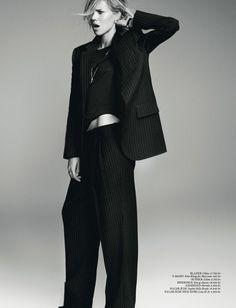 pin stripe suit, plimsoles and little black tee - Solid frog