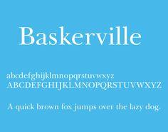 Baskerville Font Free Download - Free Fonts