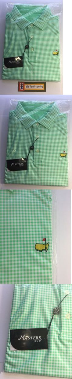 Shirts Tops and Sweaters 181138: 2017 Masters Tech Green White Checkered Golf Polo Shirt Large L New -> BUY IT NOW ONLY: $134.95 on eBay!